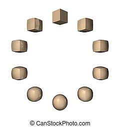 cube-sphere-cube transform