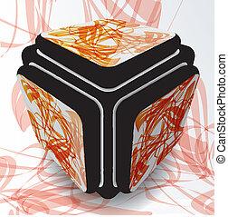 cube, vecteur