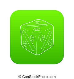 Cube with percent icon green