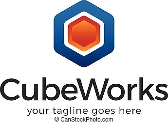 Cube Works Logo Template