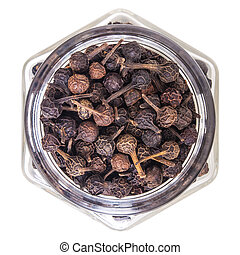 cubeb pepper isolated on white background