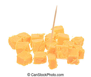 Cubed Cheese - A photo of some cubed cheese set against a...