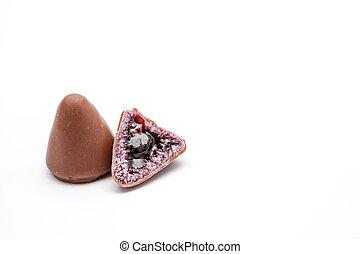cuberdons, chocolat