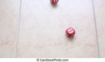 cubes, в, рука, концепция, of, luck.
