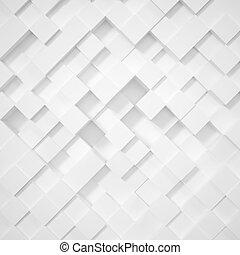 cubes., 白色, 菱形, 摘要, 背景