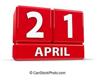 Cubes 21st April - Red cubes - The Twenty First of April -...