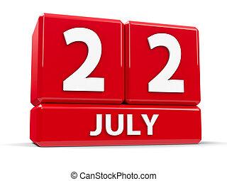 Cubes 22nd July
