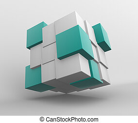 3d Abstract cubes.
