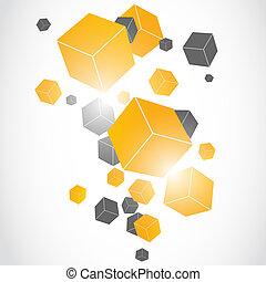 cubes 3D background