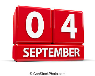 Cubes 4th September - Red cubes - The Fourth of September - ...