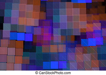 Cubes abstract modern background with fractal shapes for web design, flyers or art