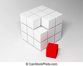 cubes., abstrakcyjny, tło