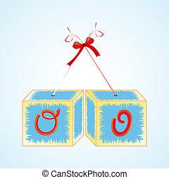 cubes alphabet O