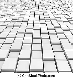 Cubes Background - 3d rendered illustration