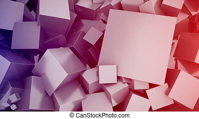 Cubes Background with space for text. Seamless loop.