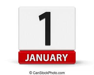 Cubes calendar 1st January