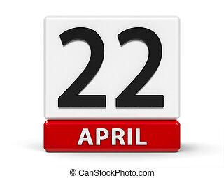 Cubes calendar 22nd April