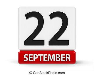 Cubes calendar 22nd September