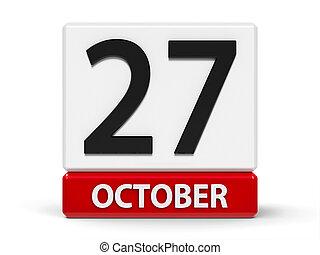 Cubes calendar 27th October