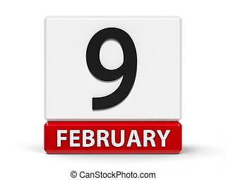 Cubes calendar 9th February