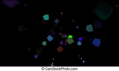 cubes color particle