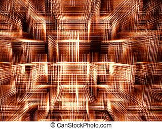 cubes, digitalement, résumé, -, engendré, fond, image