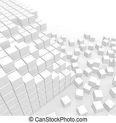 cubes, dispersé