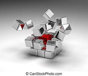 cubes, exploser