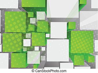 cubes, fond, 3d