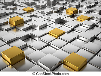 cubes, fond