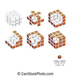 cubes, icônes