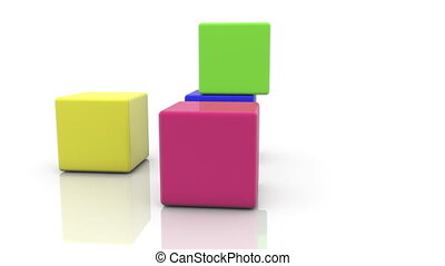 Cubes in different colors