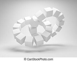 Cubes in the shape of a circle