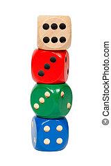 cubes, including, вырезка, дорожка