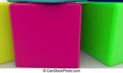 cubes, jouet, point interrogation