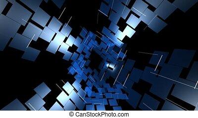 cubes, lames