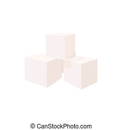 Cubes of sugar icon, cartoon style