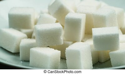 Cubes of sugar refined