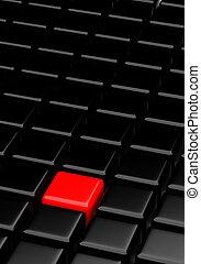 cubes, rouge noir