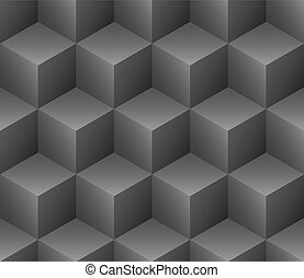 cubes seamless pattern vector