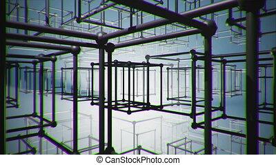 Cubes - illusion abstract construction animation blueprint,...