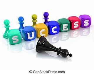 Cubes. Success. 3d
