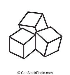 cubes sucre, icône