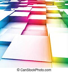 cubes., vector, kleurrijke, illustratie