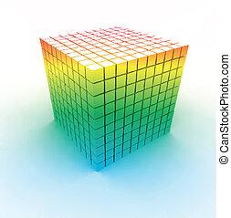 cubes., vector, kleurrijke