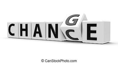 cubi, -, caso, #2, bianco, cambiamento