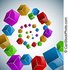 cubi, spirale, colorito