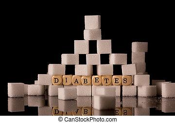 cubi zucchero, accatastato