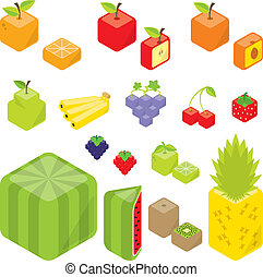 Cubic fruits.