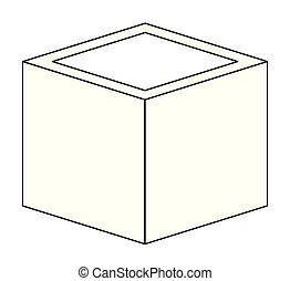 cubic matrix geometric icon